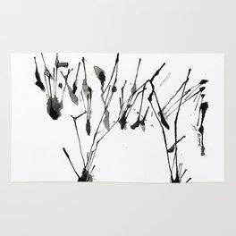 zebra ink splatter Rug