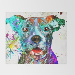 American Pit Bull Terrier Throw Blanket