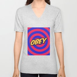 Marketing Hypnosis Consumerism Advertising - Obey Unisex V-Neck