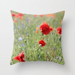 poppy flower no8 Throw Pillow