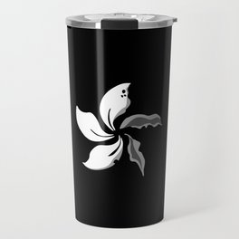 Black Bauhinia Wilted Petals Flag Hong Kong Travel Mug