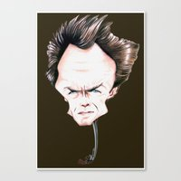 clint eastwood Canvas Prints featuring Clint Eastwood by Diego Abelenda