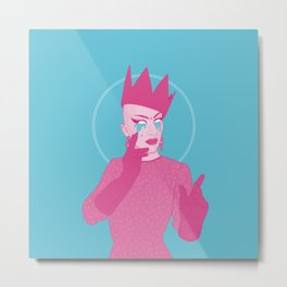 Sasha Velour Metal Print