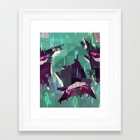 gengar Framed Art Prints featuring Gengar by tinysnails