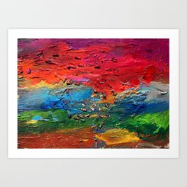 View from the earth Art Print