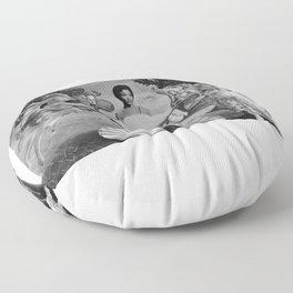 birth of eartha Floor Pillow