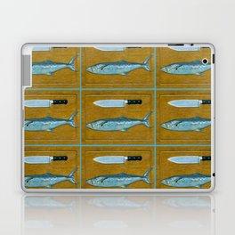 Mackerel on Cutting Board Laptop & iPad Skin