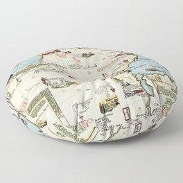 Map of Simcoe County, Ontario, Canada Floor Pillow