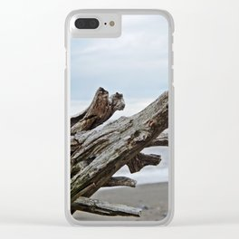 Natural Driftwood Clear iPhone Case