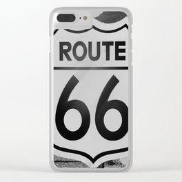 Route 66 Sign Clear iPhone Case
