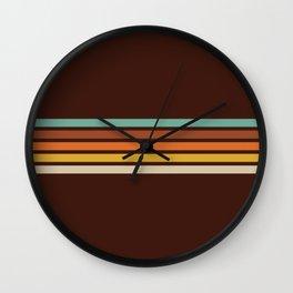 Wanderlust Retro Stripes Wall Clock