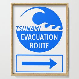 Tsunami Evacuation Route Serving Tray