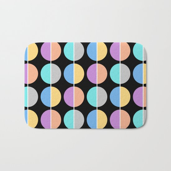 BACK TO THE 70's (abstract geometric pattern) Bath Mat
