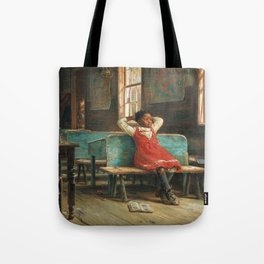 African American Masterpiece Portrait 'Kept In' by Edward Lamson Henry Tote Bag