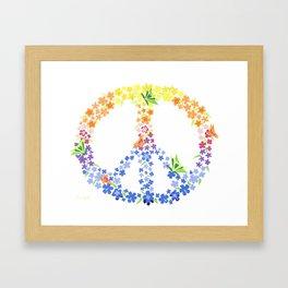 Peace Sign Framed Art Print