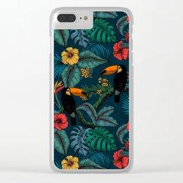 Tropical garden 2 Clear iPhone Case