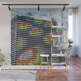 Colourful City Building Wall Mural