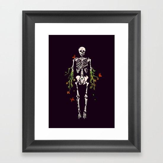 Dead is dead Framed Art Print