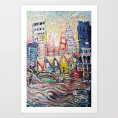 SF Glance Art Print