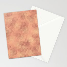 Pink Abstract Circles Stationery Cards
