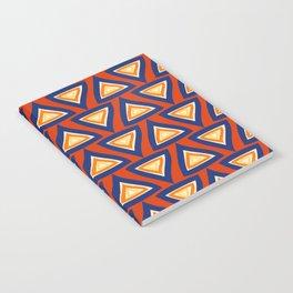 Blue Orange Triangles Notebook