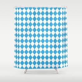 Blue Sky Modern Diamond Pattern Shower Curtain