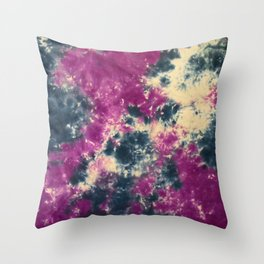 Blue Purple Scrunch Throw Pillow