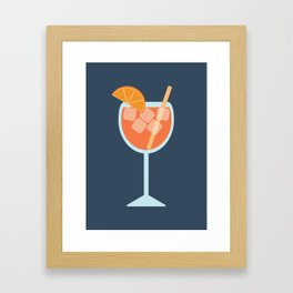 Spritz Orange Cocktail Framed Art Print