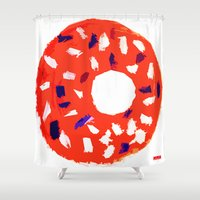 doughnut Shower Curtains featuring Doughnut by Myles Hunt