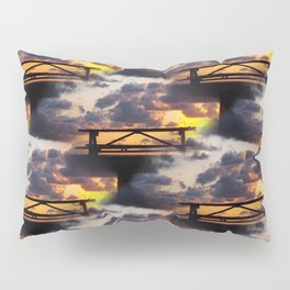 Sunset with Picnic Table Pillow Sham