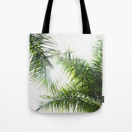 Summer Palm Trees - Modern Minimalist Tote Bag