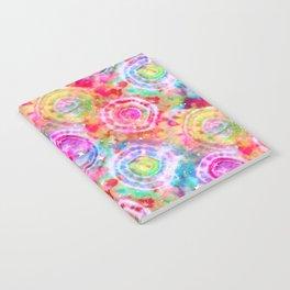 Rainbow Tie Dye Cosmos Notebook