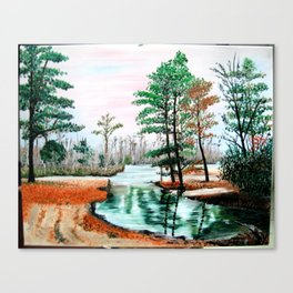 Fall Fishing Spot Canvas Print