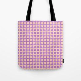 Deep Peach Orange and Lavender Violet Diamonds Tote Bag
