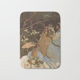 Monet- Women in the Garden, nature,Claude Monet,impressionist,post-impressionism,painting Bath Mat