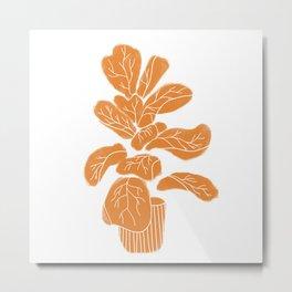 fiddle leaf Metal Print