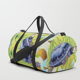 Swimming Spotted Turtle, Turtle Art Duffle Bag