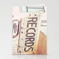 records Stationery Cards featuring Records by JoyHey