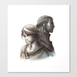 The Witcher 3 - Ciri / Geralt Artwork Canvas Print
