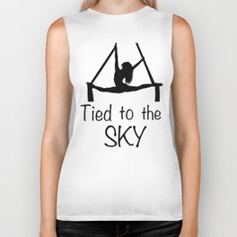 "Aeiralist ""Tied to the Sky"" Graphic Biker Tank"