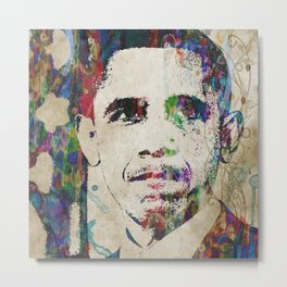 Obama - Last Great President Watercolor Pop Art Trump Metal Print