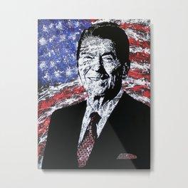 Reaganing Metal Print