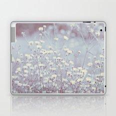 Wild Abandon -- Dreamy Fleabane Daisies in Lavender Gray Mist Laptop & iPad Skin