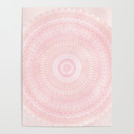 Pastel Pink Mandala Poster