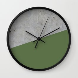 Concrete and kale color Wall Clock
