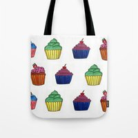 cupcakes Tote Bags featuring cupcakes by MeriRS