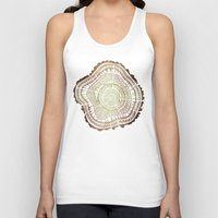 tree rings Tank Tops featuring Tree Rings – Watercolor Ombre by Cat Coquillette