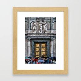 Rain Outside the Baptistry Framed Art Print