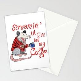 Screamin' Possum Coffee Stationery Cards