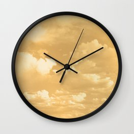 Clouds in a Golden Sky Wall Clock